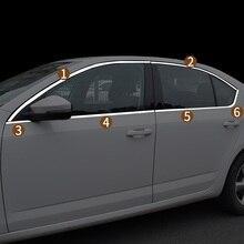 Фотография automobile car covers accessories chromium styling 15-17 modified trim window door bright decoration FOR Skoda Octavia