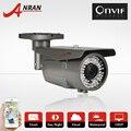 2.0 megapixel 1080 p onvif h.264 sony sensor 25fps varifocal 2.8-12mm lens 78ir bala cctv impermeável ao ar livre câmera do ip da rede