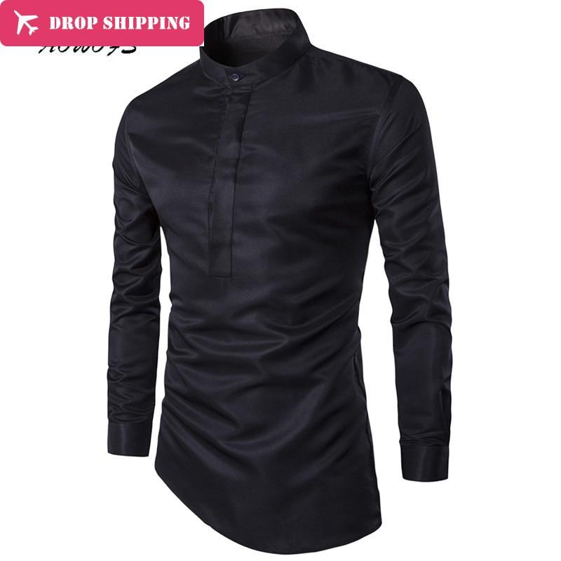 Dropshipping Camisa Masculina 2017 Férfi divat Slim Fit alkalmi ing - Férfi ruházat