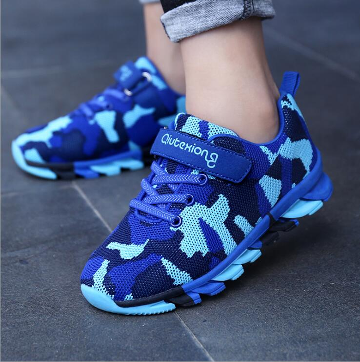 QIUTEXIONG Trainer Children Running Shoes Kids Sneaker Boys Casual Shoes For Girls Footwear Sport Breathable Fashion Mesh Shoes цена