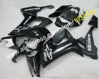 Hot Sales,Gloss black For Kawasaki Ninja Cowling body ZX10R 2008 2009 2010 ZX 10R 08 10 ZX 10R Fairing Kit (Injection molding)