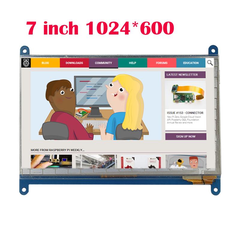 Prix pour Haute Qualité Framboise Pi 3 Affichage 7 Pouce LCD 1024x600 HDMI Interface avec Écran Tactile pour Raspberry pi 3/2
