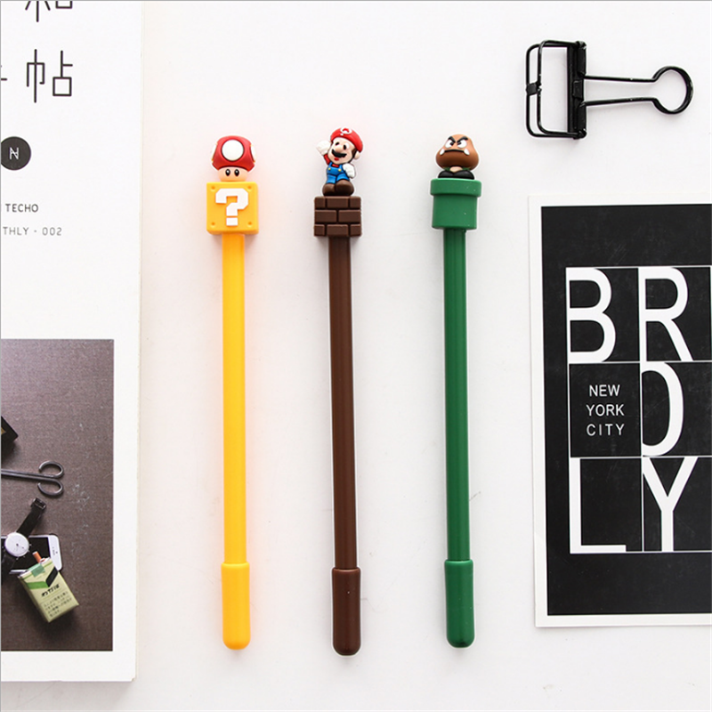 interesting office supplies. trochilus 2pcs super mario gel pen school stationery office supplies kawaii for girl interesting unusual writing pen-in pens from f
