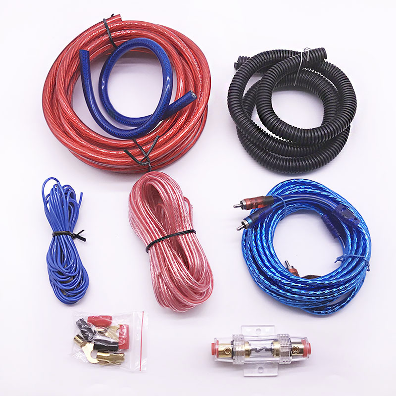 DQ NEW Car Auto Audio Speakers Wiring kits 4GA Power Cable Amplifier Subwoofer Speaker Installation Wires