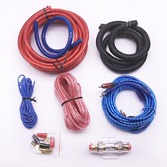 dq new car auto audio speakers wiring kits 4ga power cable amplifier rh aliexpress com