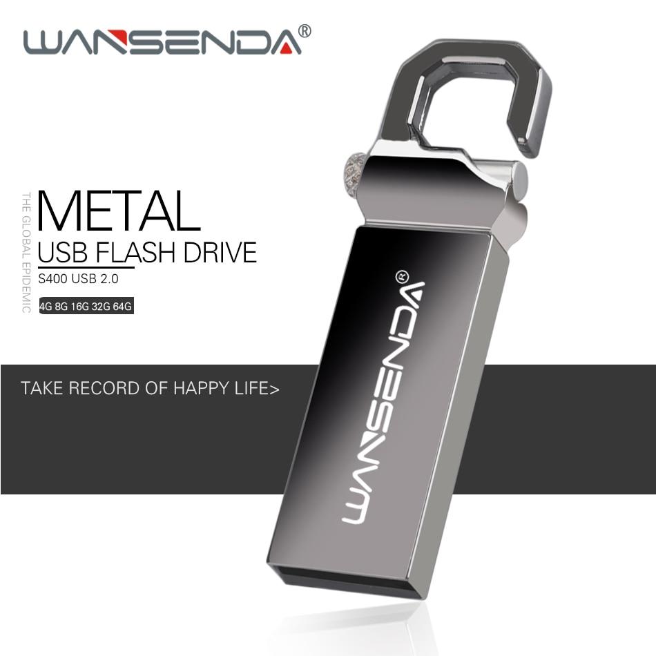 WANSENDA Key Chain USB Flash Drive Pen Drive 8GB 16GB 32GB 64GB Waterproof Pendrive USB 2.0 Memory Stick Flash Disk