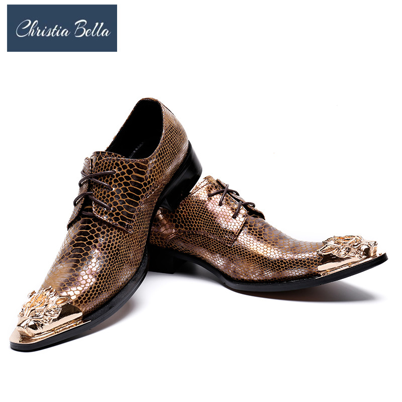 Christia Bella Fashion Italian Designer Formal Mens Dress Shoes Genuine Leather Luxury Wedding Male Shoes Office Party Shoes Men 2015 italian luxury alligator fashion mens dress shoes genuine leather with buckle black flats for man wedding party office 979