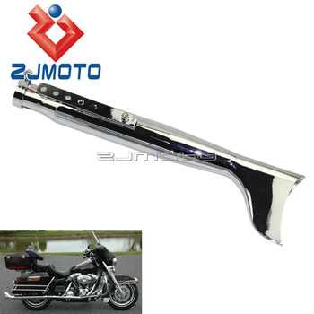 """1x Motorcycle Fishtail Muffler Exhaust 1-5/8"""" 1-1/2"""" 1-7/16"""" For Harley Motorcycles Exhaust Mufflers Pipe -Left Side"""