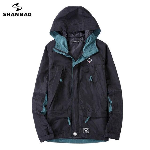 SHAO BAO brand clothing lightning printing magic sticker zipper fashion jacket 2017 spring autumn men's casual coat high quality
