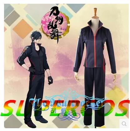 Free Shipping! Touken Ranbu Online Shokudaikirimitsutada Varus Sports Suit Cosplay Costume ,Perfect Customized For you!