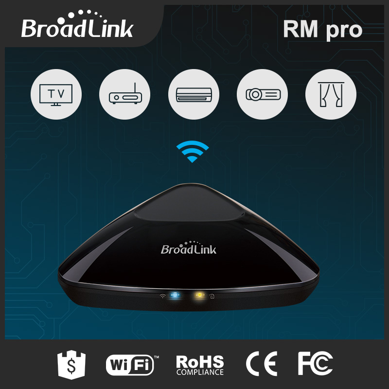 2016 Hot sale EU Standard Broadlink RM2 RM PRO Smart Home Automation Remote Controller WIFI+ IR+ RF Switch IOS Android hot sale uk standard broadlink rm2 rm pro smart home automation remote controller wifi ir rf switch ios android free shipping