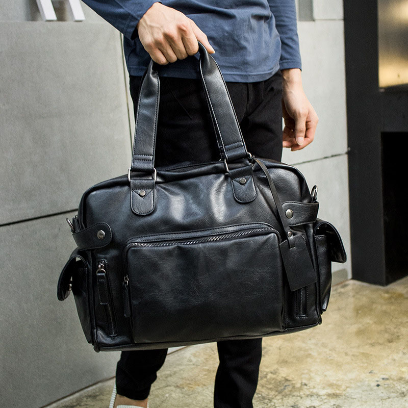 Fashion Men Handbag PU Leather Briefcase Brand Luxury Men Messenger Bag For Male Business Large Capacity Shoulder Bag Travel Bag