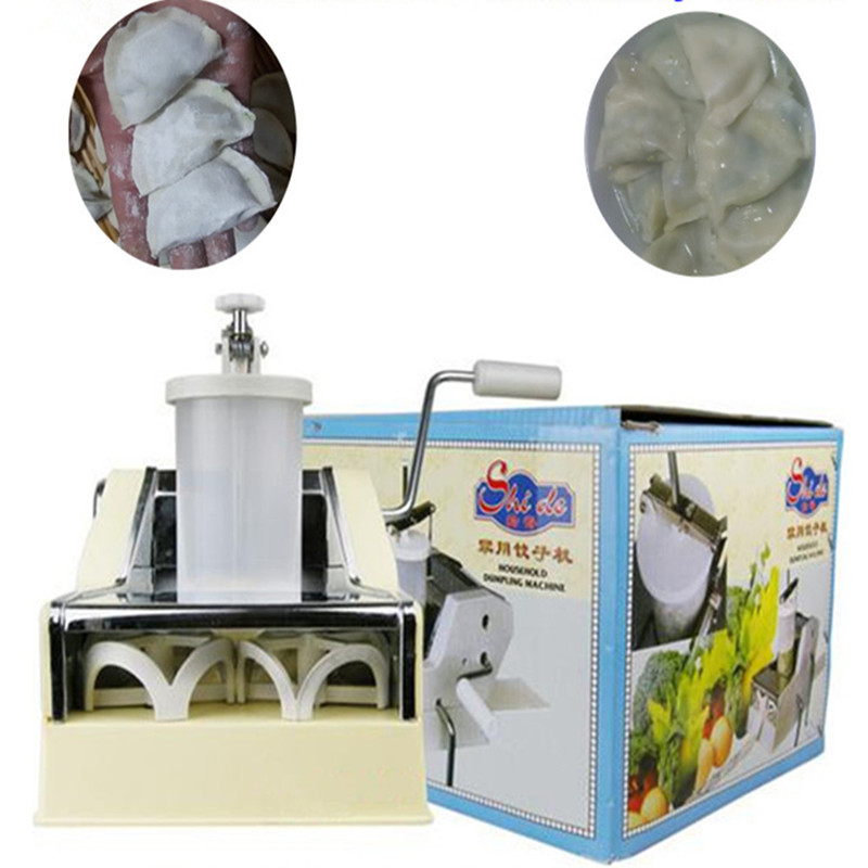 High quality household manual hand dumpling maker mini press dough jiaozi momo making machine household manual dumpling maker machine hand cranked jiaozi pelmeni machine