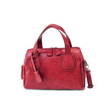 Occident Style Retro Red Boston Bag Women Luxury Designer PU font b Handbag b font Trendy
