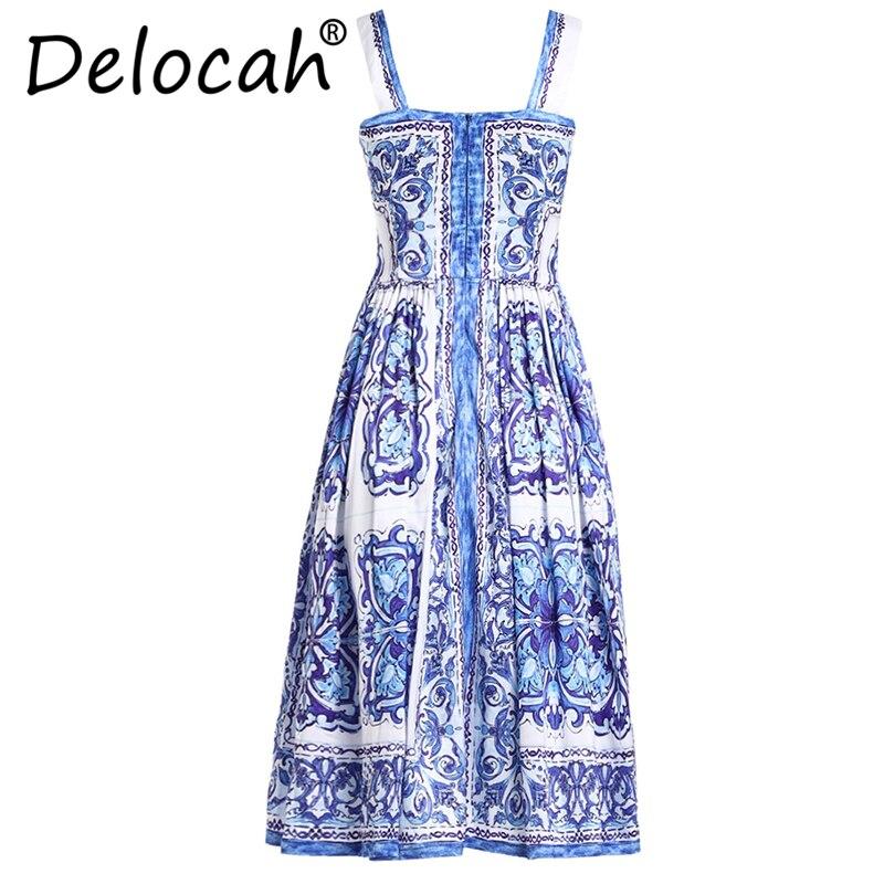 Vestido Mujer La Blanco Para Vestidos Espagueti Azul De Correa Plus Verano Y Delocah Pista 5xl qwaERYS