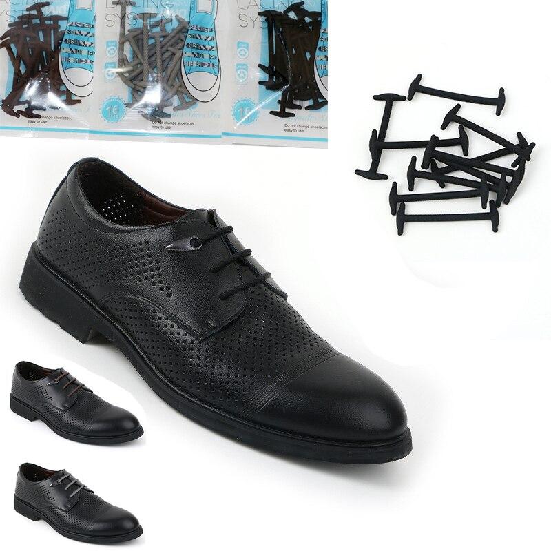 10Pcs / Set 5cm No Tie Shoes, kişilər üçün elastik silikon dəri - Ayaqqabı aksesuarları - Fotoqrafiya 2