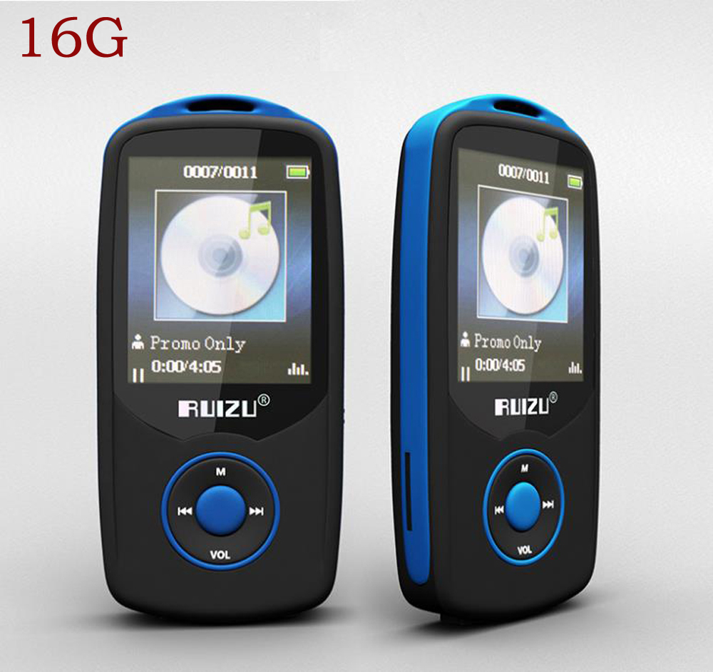 Original RUIZU X06 16G Bluetooth Sport MP3 Music Player 1 8Inch Screen 100hours high quality lossless