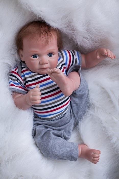 50 см новый мягкий корпус силиконовый Reborn Baby Doll игрушки Реалистичные новорожденный мальчик Baby-Reborn кукла подарок на день рождения Рождествен...