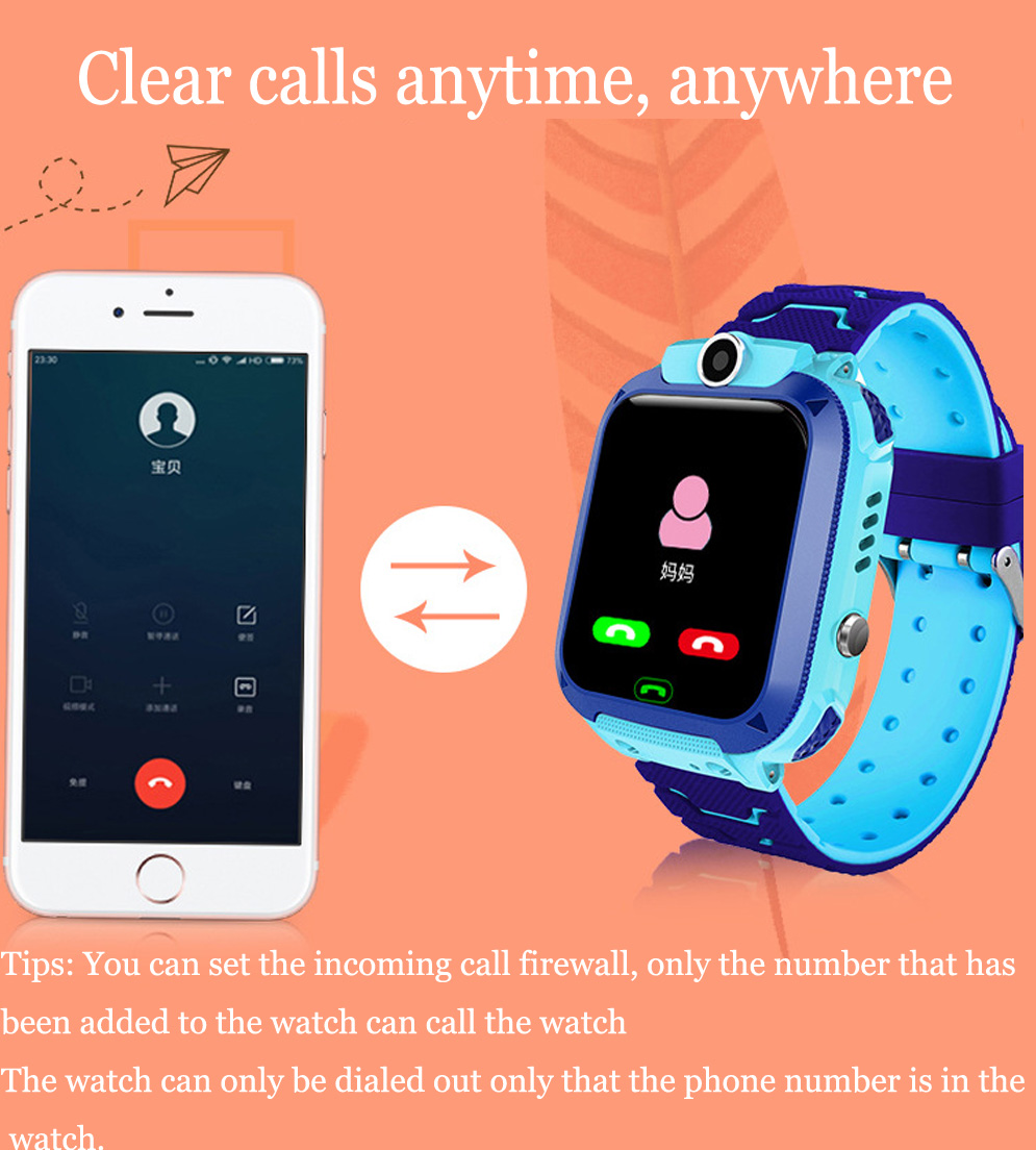 High Quality Newest Waterproof Tracker Smart Kids Child Watch Anti-lost SOS Call Smart Watch For iOS Android 18