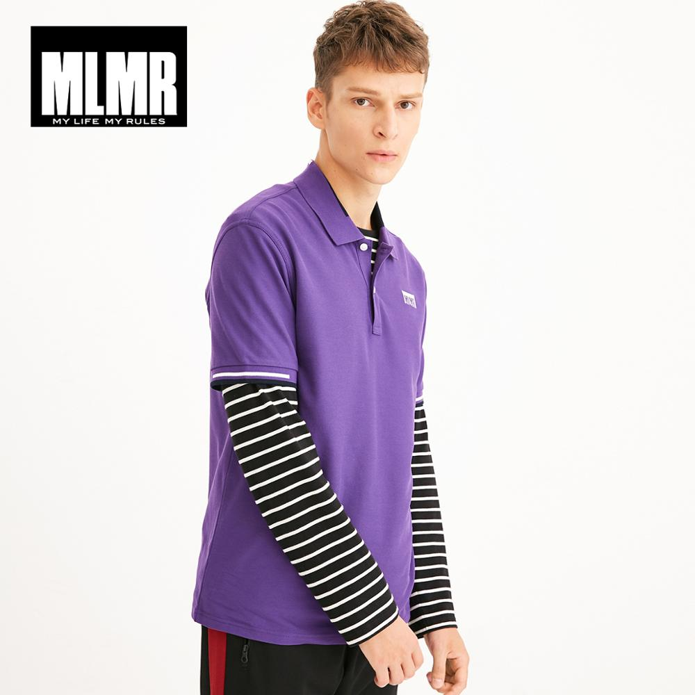 MLMR Men's Turn-down Collar Cotton Short-sleeved Knit   Polo   Shirt Top Menswear M|218206515