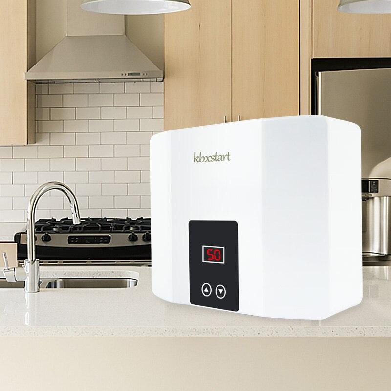 5500 Вт мгновенный Электрический проточный водонагреватель настенный Электрический водонагреватель термостат 3 секунды быстрый нагрев горя...