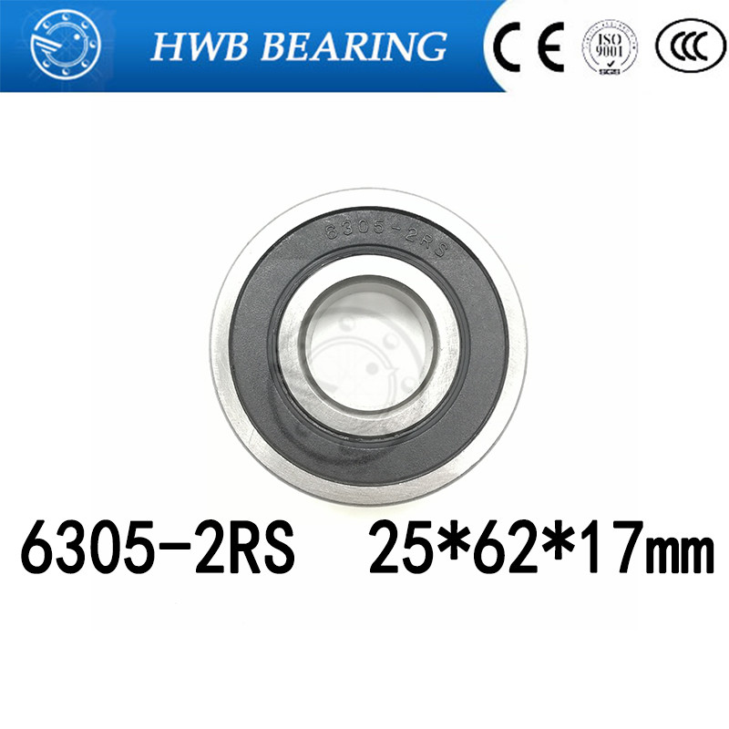 Free shipping 6305RS Bearing  (1 PCS) 25*62*17 mm Deep Groove 6305-2RS Ball Bearings 6305RZ 180305 RZ RS 6305 2RS 25x62x17mm gcr15 6326 zz or 6326 2rs 130x280x58mm high precision deep groove ball bearings abec 1 p0