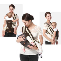 3 In 1 Baby Carrier 0 36 Month Sling Breathable Baby Kangaroo Hipseat Backpacks Carriers Newbron