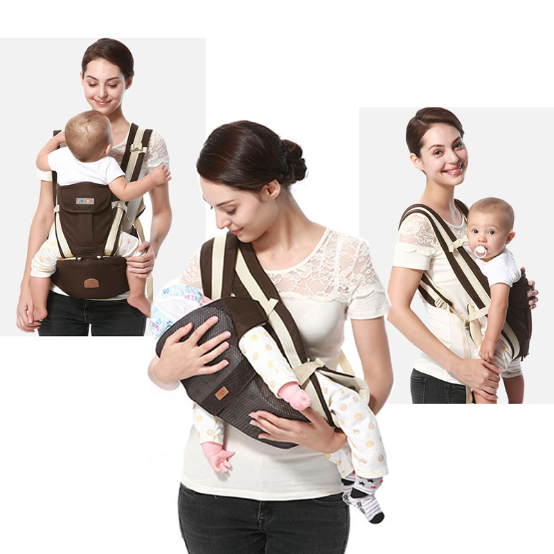 3 in 1 Baby Carrier 0 36 Month Sling Breathable Baby Kangaroo Hipseat Backpacks Carriers Newbron Multifunction Ergonomic Carrier high quality baby carriers babies carrier hipseat fashion pure cotton baby backpack with dismountable large space mom bag