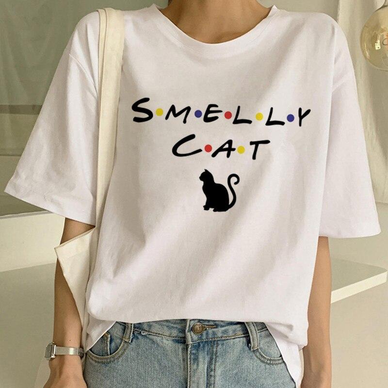 Nowy słodki kociak T koszula kobiety dorywczo zabawny nadruk kreskówkowy Tshirt Harajuku Kawaii moda koszulka lato koszulki z krótkim rękawem kobieta 3