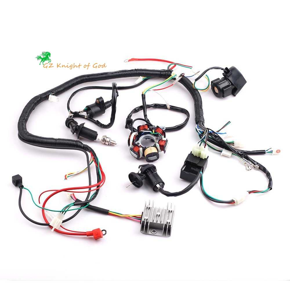 Detail Feedback Questions About Buggy Wiring Harness Loom Gy6 Engine 150cc Complete Electrics Wire Magneto Stator For 4 Stroke Type 125cc