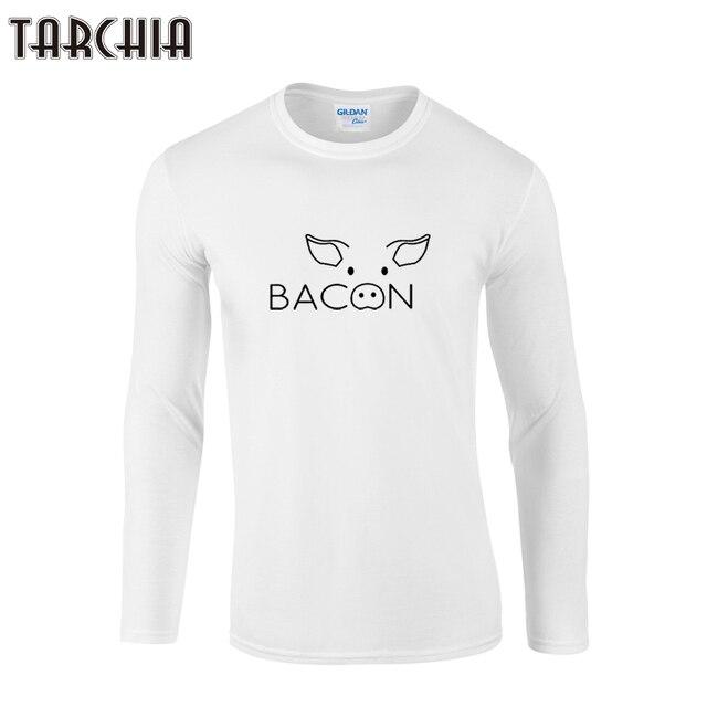 464a3ac2a182 TARCHIIA 2018 neue speck schwein gesicht angekommen mode junge männer Lange  Sleeve männlichen t-shirt