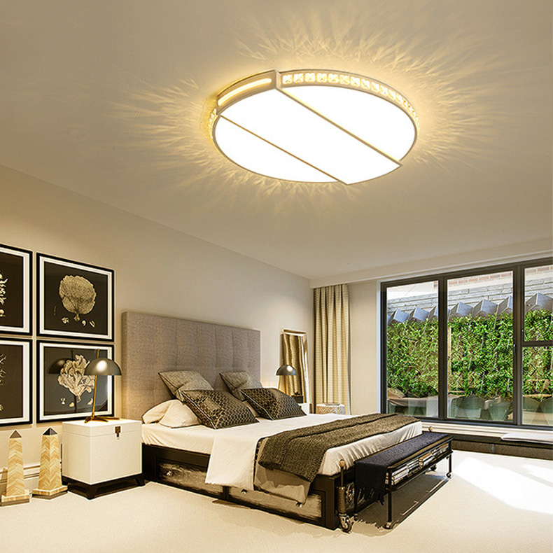 Modern Clear Cystal Ceiling Light Indoor Lamp Circular Creative Design Ceiling Light Fixture Romantic Bedroom Lamp