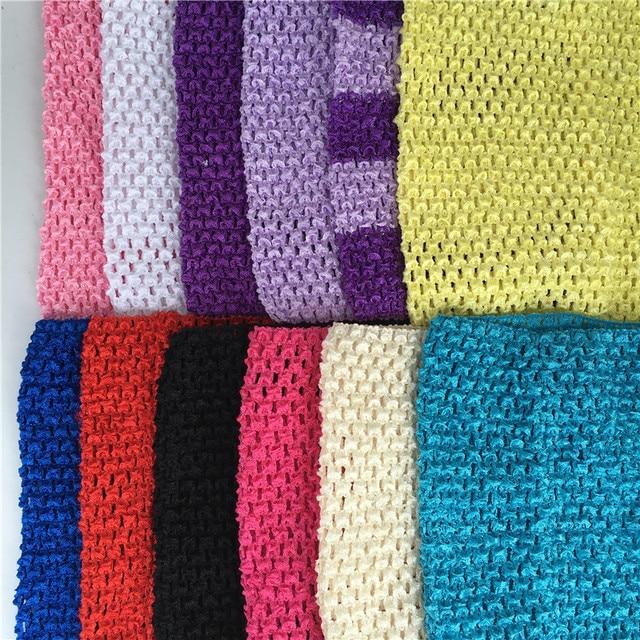1 pz 20x23 cm Crochet Top FAI DA TE Tulle Spool Lavorato A Maglia Tessuto Elasti