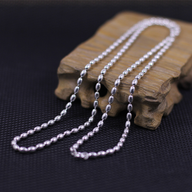 S925 silver jewelry wholesale fashion exquisite lady beads chain necklaceS925 silver jewelry wholesale fashion exquisite lady beads chain necklace