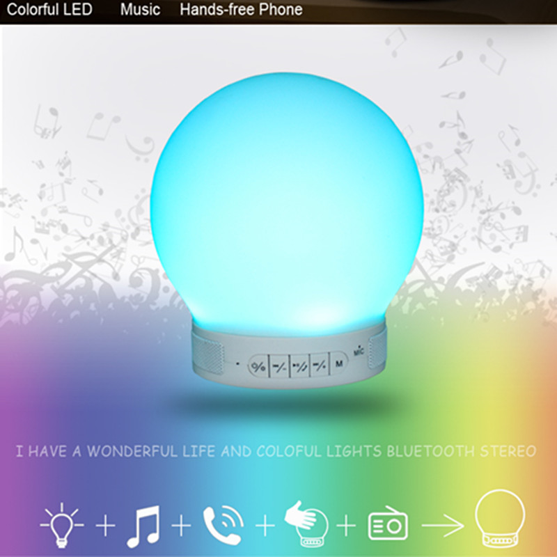 Portable Mini LED Bluetooth Speakers Wireless Small Music Audio TF USB FM Light Stereo Sound Speaker For Phone 2017 hot bluetooth multi function audio intelligent family host background music system lcd screen touch light dimmer 2 speakers