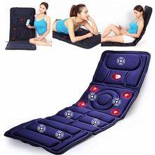 Colchão massageador 8 em 1, modo dobrável, de corpo inteiro, aquecimento automático, multifunção, infravermelho, almofada de vibração