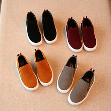 Spring and autumn new children's casual shoes boys girls flat shoes grandma style kids suede comfort single sneaker shoes