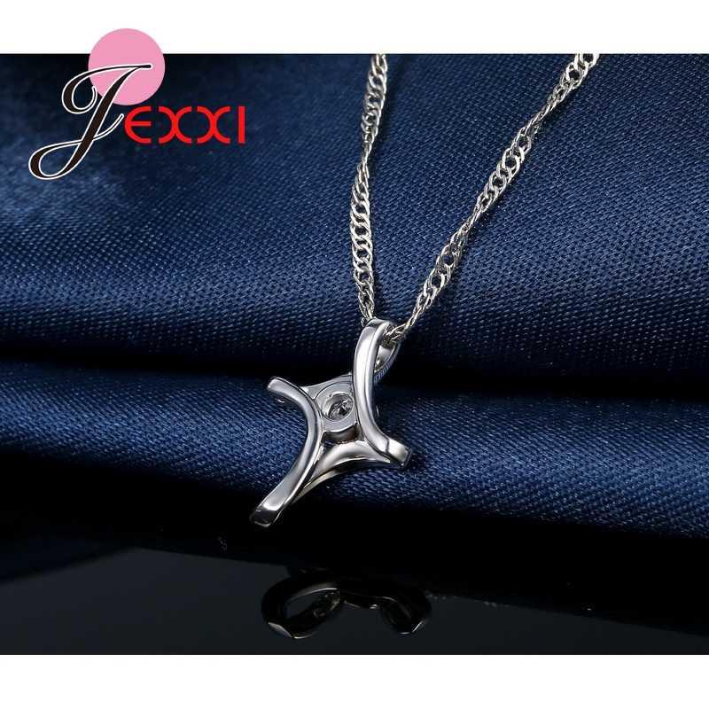 Большая Акция, классический элегантный стиль, CZ Кристалл, яркие ювелирные изделия, 925 пробы, серебряная подвеска, ожерелье для очаровательных женщин