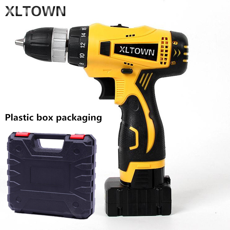 XLTOWN new 25V ElectricDrill 2000mA Large Capacity Lithium Battery Electric Screwdriver Rechargeable Multi-Motion Electric Drill 2016 promotion new standard battery cube 3 7v lithium battery electric plate common flat capacity 5067100 page 6
