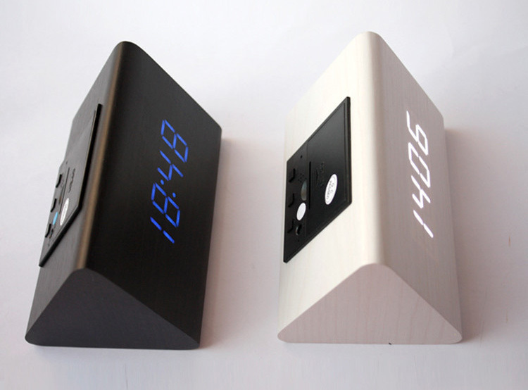 wholesale modern thermometer desk clocks led digital clock alarm clocksound control mini led table clock in alarm clocks from home garden on - Designer Desk Clock