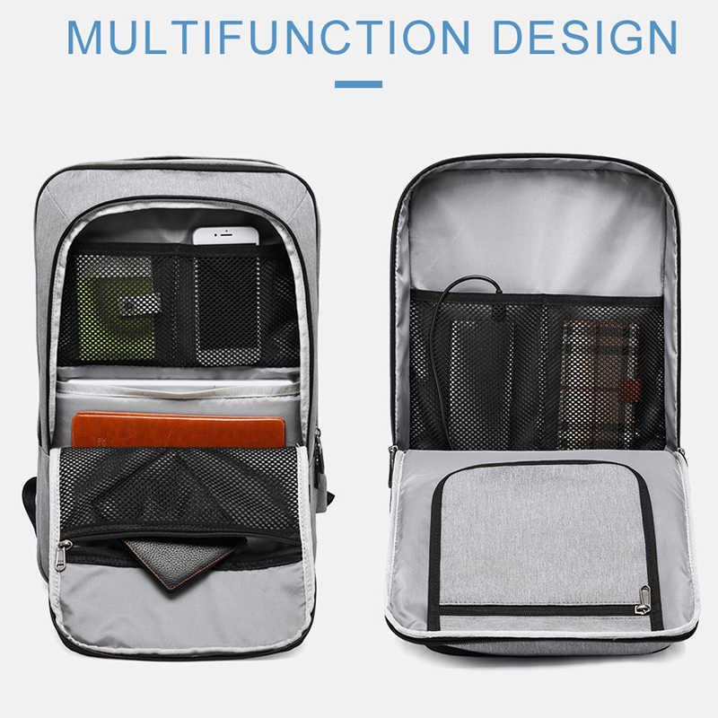 """Kaka Pria Ransel USB Charge Kapasitas Besar Perjalanan Tas 15.6 """"Laptop Tas Ransel Tas Sekolah untuk Remaja Mochila Wanita Kembali pack"""