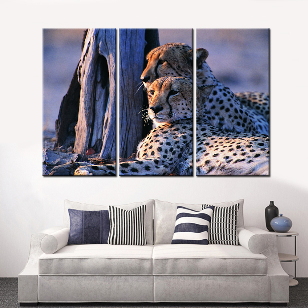 Leopard Bedroom Ideas For Painting: Canvas Home Decor Modular Wall Art Pictures Framework 3