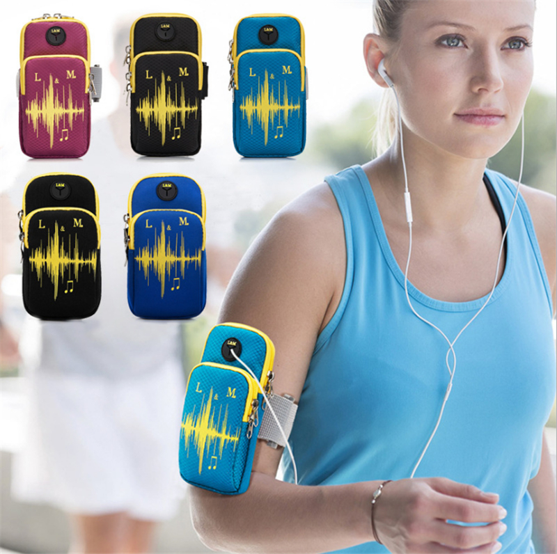 20pcs Universal Sports Armband Case Zippered Fitness Running Arm Band Bag Pouch Jogging Workout Cover fo Mobile Phone Smartphone