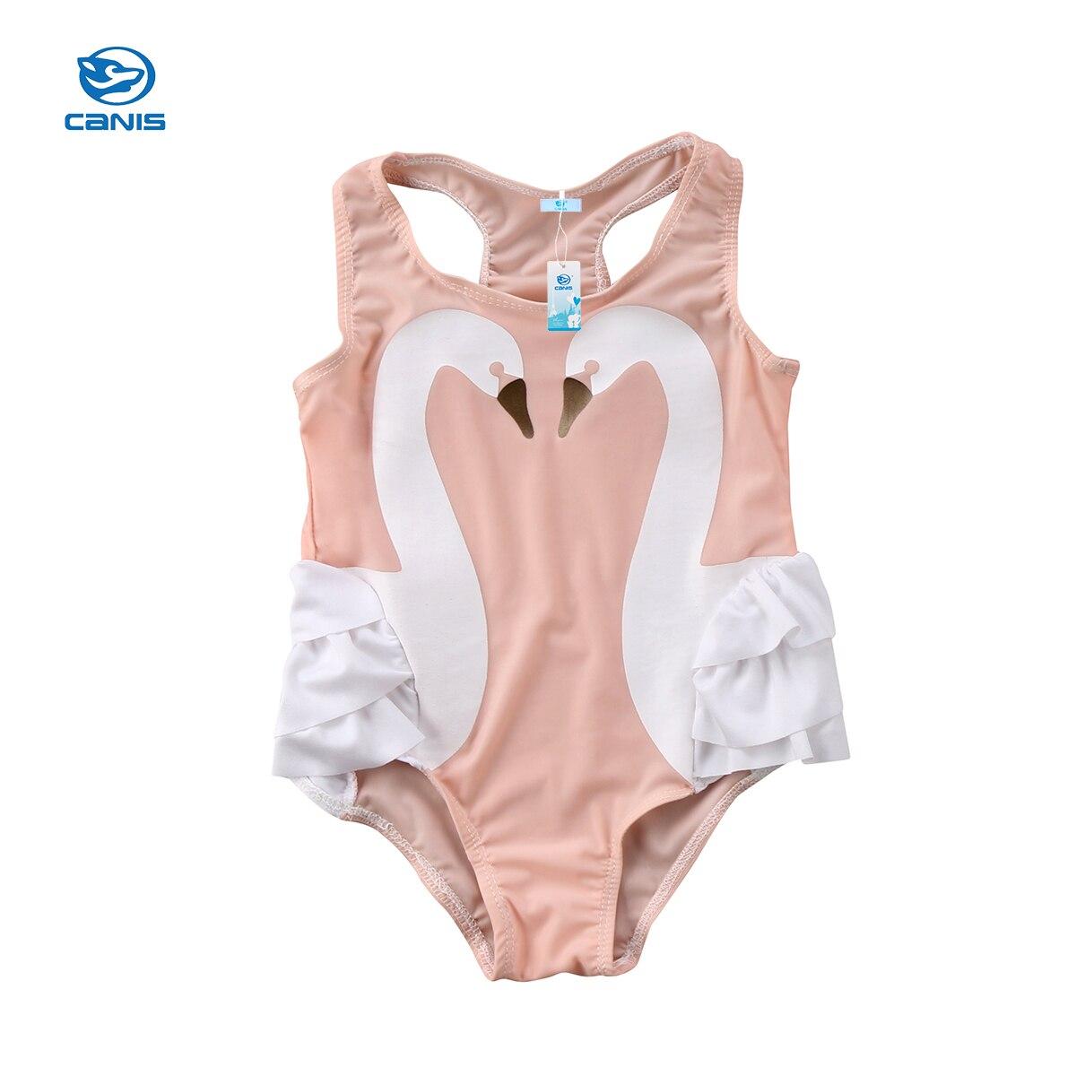 Baby Kids Girl Swan Swimwear Swimming Costume Swimsuit Bikini Monokini Beachwear