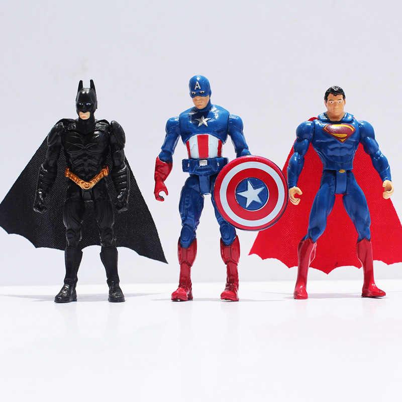6 ピース/ロットスーパーヒーローアメリカジョイント可動フィギュアモデルおもちゃ人形