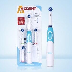 Image 5 - Azdent quente AZ OC2 rotativa escova de dentes elétrica bateria operado 4 cabeças higiene oral produtos de saúde não recarregável escova de dentes
