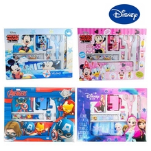 Disney Princess Children Cartoon Mickey Mouse Minnie Pencil Ruler Eraser Pencil Sharpener Kids Drawing Toys For Gifts