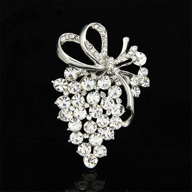 2017 Large Fashion Rhinestone Brooch Pins For Wedding Dress Luxurious Pins  And Brooches For Women Scarf