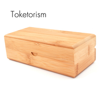 Support custom New fashion bamboo box for glasses handmade high quality wood sunglasses case B1
