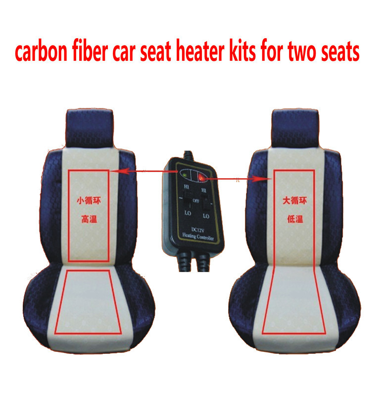 Free Shipping Carbon Fiber Car Seat Heater For Two Seats With Cigar Lightercar Heating Padscar Pads In Automobiles Covers From